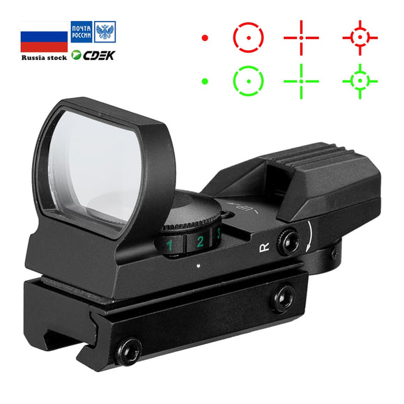Hot 20mm Rail Riflescope Hunting Optics Holographic Red Dot Sight Reflex 4 Reticle Tactical Scope Collimator Sight
