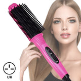 Comb Hair Curler Curling Iron Hair Straightener Hot Comb Electric Environmentally Friendly Titanium Alloy Comb Dropshipp store