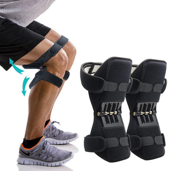 Joint Support Knee Pads Powerful Rebound Spring Force Adjustable Bi-Directional Straps for Joint Pain Relief