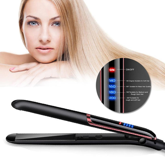 2019 New 35W Professional Hair Straightener LED Display Ionic Flat Iron PTC Heating Hair Styling Straightener Curler