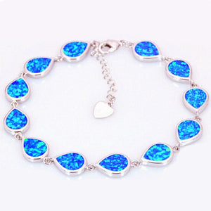 2019 Unisex Fashion Water Drop Opal Bracelet Hand Chain Party Jewelry Accessory Gift