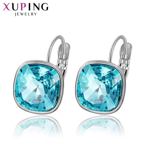 Xuping Fashion Earrings Wedding Gifts Crystals from Swarovski Colorful Charm Drop Earrings for Women Gifts M42-200