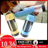Pet Dog Water Bottle Portable Drinking Bowls For Small Large Dogs Feeding Water Dispenser Cat Activated Carbon Filter Bowl