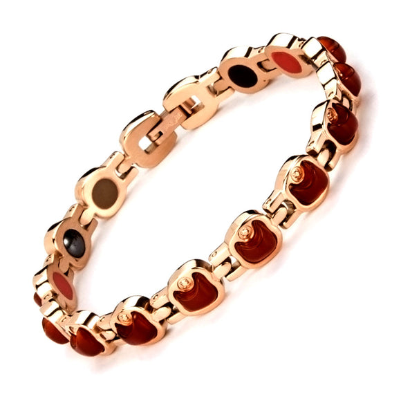 Fashion Jewelry 316L Stainless Steel Bio Magnetic Therapy Bracelet Health Energy Bracelet For Elegant Women Best holiday gifts
