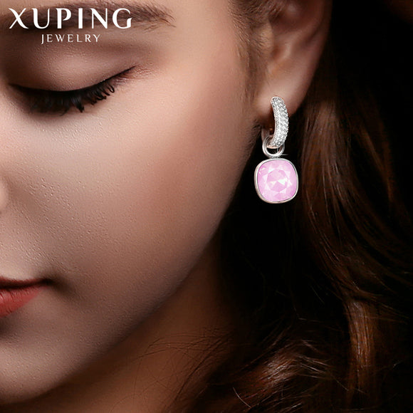 Xuping Fashion Earrings Drop Earring High Quality Crystals from Swarovski Color Plated Charm for Women Mother's Day Gift M66-203