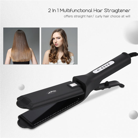 Hair Straightener/Hair Crimper Curler Waver Wide Plate Flat Iron Hair Straightening Corrugated Irons Salon Barber Styling Tool45