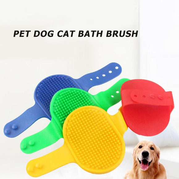 1PC Pet Dog Cat Bath Brush Comb Rubber Glove Hair Fur Grooming Massager Massage Mit Pet Shower Cat Dog Brush Random Color