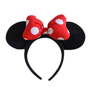 Original Disney Plush Headdress Toy Mickey Minnie Mouse Headwear Princess Mickey Minnie Ears Girls Hair Bands Head Hoop Kid Gift
