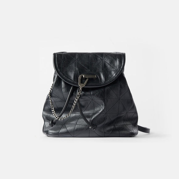 Women's Bag Black Flip Soft Shoulder