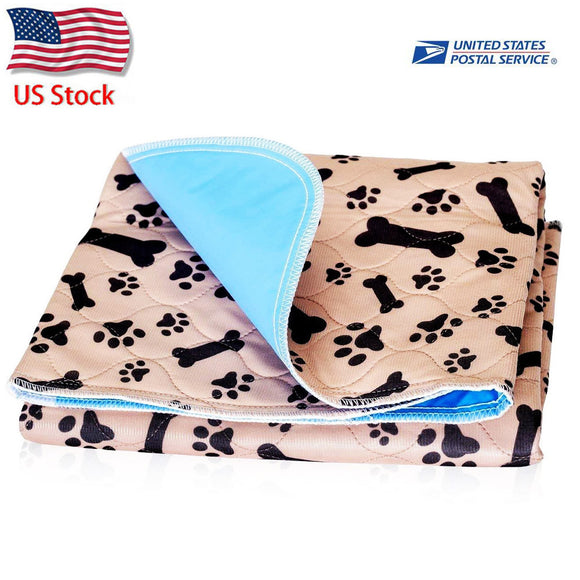 Reusable Dog Bed Mats Dog Urine Pad Puppy Pee Fast Absorbing Pad Rug for Pet Training In Car Home Bed