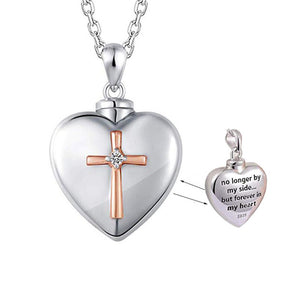 Heart Cremation Urn Necklace for Ashes Urn Jewelry Memorial Pendant with Fill Kit and Gift Velvet Bag