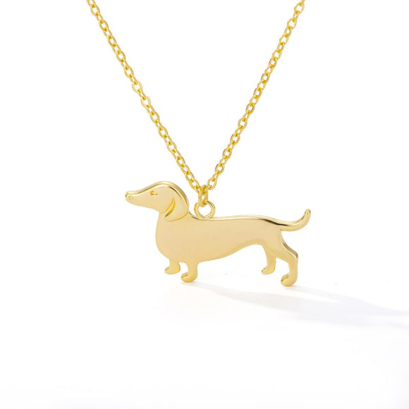 Cute Dog Shape Pendant Necklaces for Women