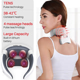 Smart Shoulder Neck Massager Wireless 4D Magnetic Pulse Cervical Massager Fatigue Pain Relief Electric Massage Instrument