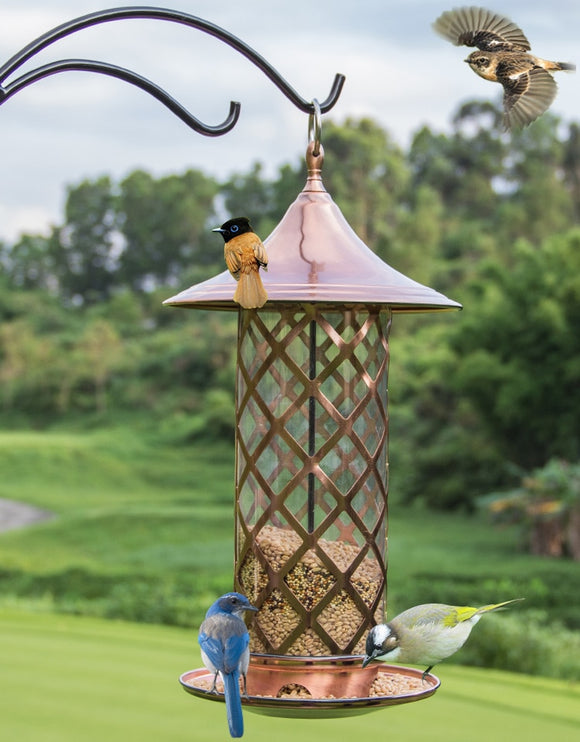 European style wild bird feeder Outdoor bird feeders food container