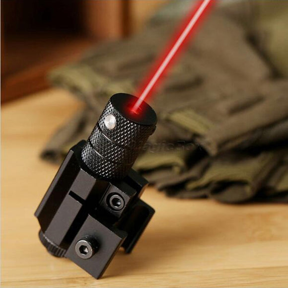 Powerful Tactical Mini Red Dot Laser Sight Scope Weaver Picatinny Mount Set for Gun Rifle Pistol Shot Airsoft Riflescope Hunting