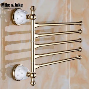 Crystal bathroom Activity towel bar towel arms Wall crystal Bathroom towel Shelf Bathroom Accessories Towel Bar 3-4-5 bars