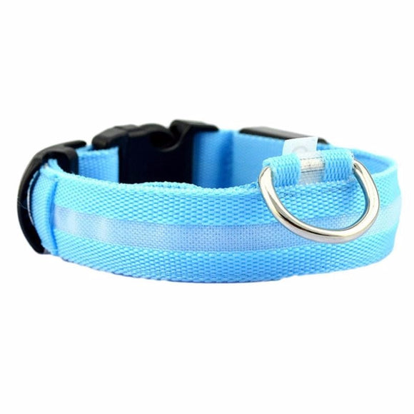 Pet Luminous Collar Safety Pet Collar For Lighted Up Nylon Solid LED Dog Collar Glow Necklace Huisdier Kraag #P