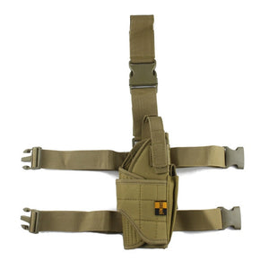 Adjustable  Military Airsoft Holster Hunting Tactical Pistol Drop Leg Holster Thigh Gun Holster for right hand