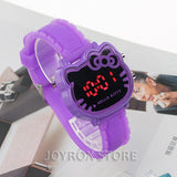 JOYROX Hot Hello Kitty LED Children Watches 2018  Rubber Strap Child Watch Fashion Girls Kids Digital Wristwatch Casual Clock