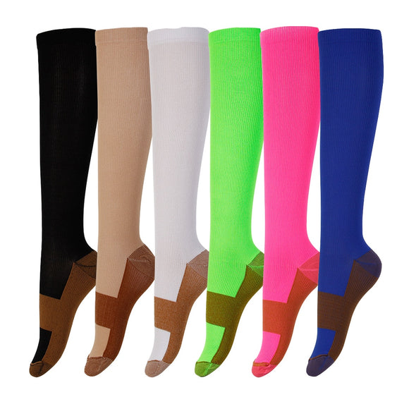 david angie Unisex Copper Compression Socks Women Men Anti Fatigue Pain Relief Knee High Stockings 15-20 mmHg Graduated,1Yc2374