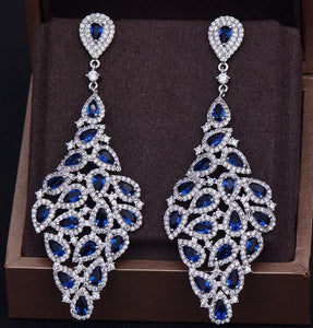GODKI Brand New Luxury Fashion Luxury Pear Cut Cubic Zirconia Anniversary Dress Party Bridal Earrings
