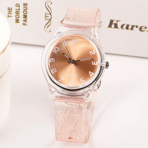 2019 New Fashion Glitter Harajuku Transparent Small Women Watches Waterproof Sports Jelly Lovely Children Quartz Watches  Ladies