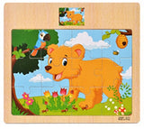 Montessori Toys Educational Wooden Toys for Children Early Learning 3D Cartoon Animal Traffic Puzzle Kids Math Jigsaw