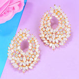 GODKI 41mm Luxury Popular Waterdrop Full Mirco Paved Cubic Zircon Naija Wedding Earring Fashion Jewelry