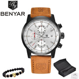 BENYAR Watches Men Luxury Brand Quartz Watch Fashion Chronograph Watch Reloj Hombre Sport Clock Male Hour Relogio Masculino