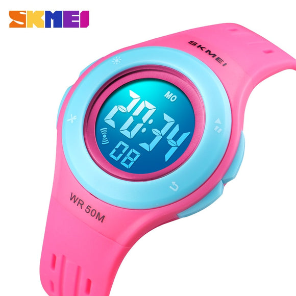 Children Watch Boys Girls LED Digital Sports Watches Plastic Kids Alarm Date Casual Watch Select Gift for kid SKMEI 2018