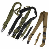 Abay Tactical Gun Sling 3 Point Bungee Airsoft Rifle Strapping Belt Shooting Hunting Accessories Three Point Gun Strap