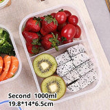 Kitchen Plastic Microwave Bento box Outdoor Picnic Food Storage Container Eco Friendly lunch box for kids school Dinnerware Set