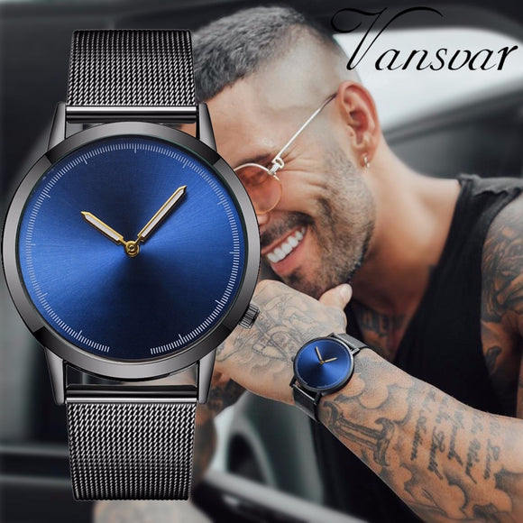 Mens Business Watch Fashion Classic Gold Quartz Stainless Steel Wrist Watch Luxury Male Watches Men Clock Relogio Masculino Hot