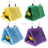 Pet Parrot Hammock Bird Hanging Bed House Plush Winter Warm Cage Nest Tent