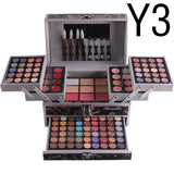 Hot Miss Rose Professional Makeup Set In Aluminum Box Three Layers Include Glitter Eyeshadow Lip Gloss Blush for Makeup Artist