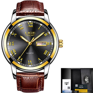 LIGE 2019 New Watch Men Fashion Sport Quartz Clock Mens Watches Brand Luxury Leather Business Waterproof Watch Relogio Masculino