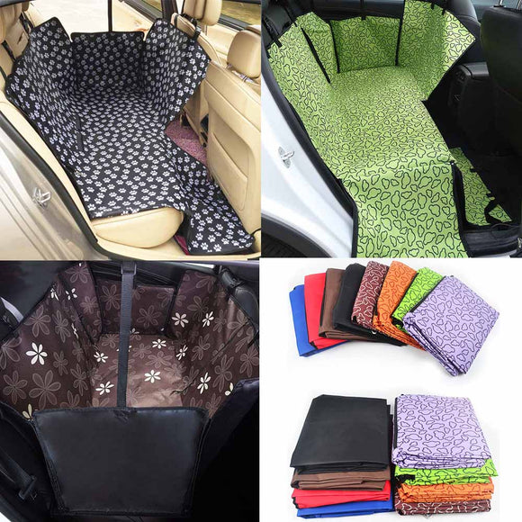 Dropshipping Pet Dog Carrier Car Rear Seat Cover Cat Carrier Cover Portable Oxford Cloth Waterproof Dog Supplies Accessories