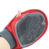 New Cat Glove For Animals Combing Cats Grooming Hackle Excellent Red Silicon Pet Massager Hair Removal Mitten Accessories