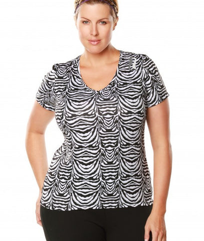 Signature Short Sleeve Tee - White Zebra