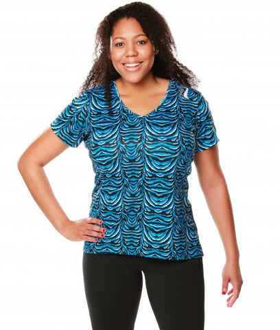 Signature Short Sleeve Tee - Blue Zebra