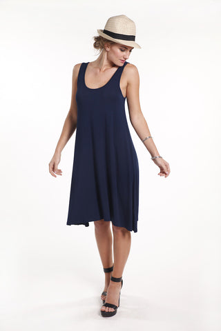 Swing Dress - Navy