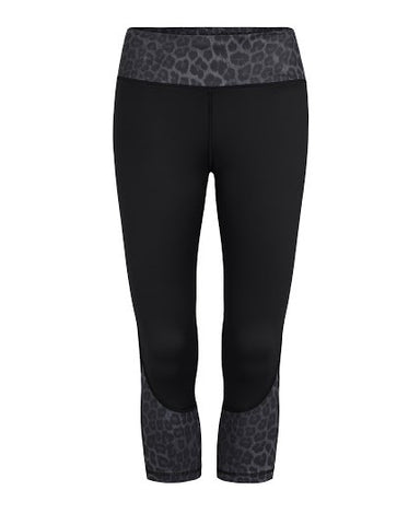 Chelsea - Black Leopard - 3/4 Compression Tights