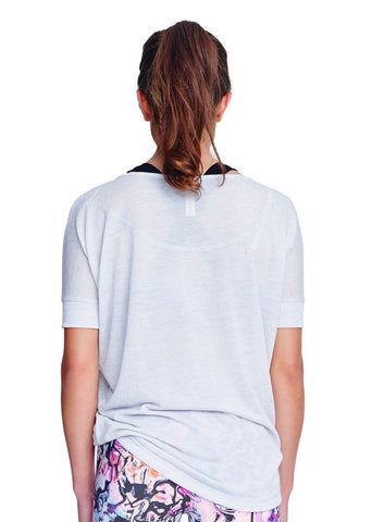 Sophie Short Sleeve Top - Light Grey