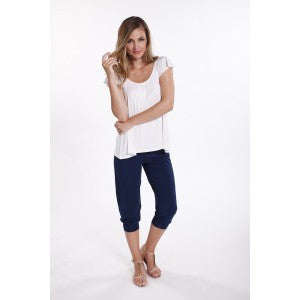 Michelle Bamboo Top - White