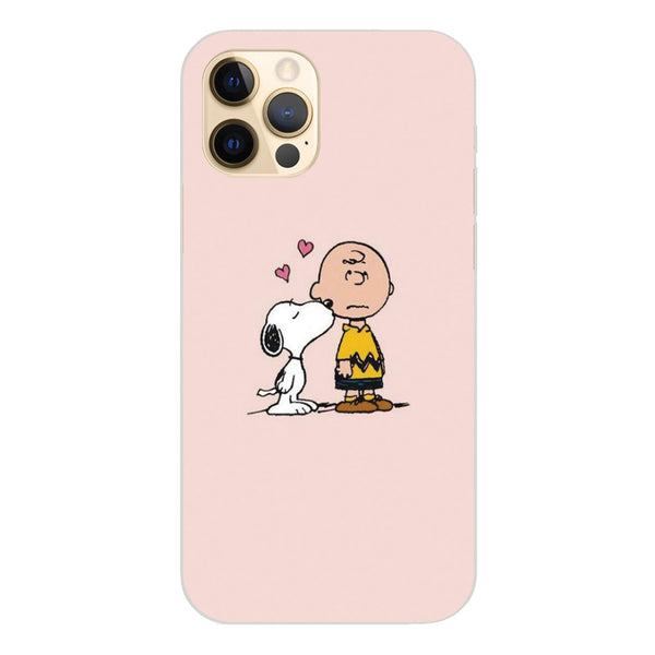 Coque Apple iPhone 12 Pro silicone gel motif Snoopy FS005