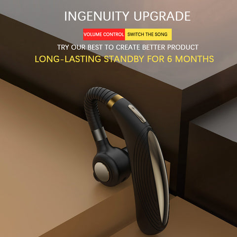 K06S Business Bluetooth Headset 5.0 Wireless Hanging Ear High Power Long Standby Headphones