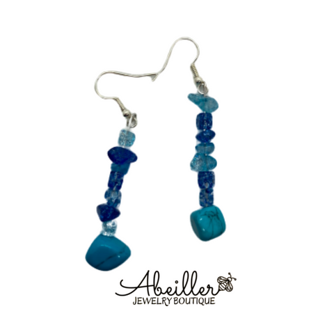 Blue earrings - Abeiller