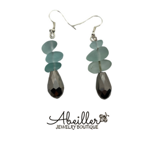 Silver Sea Earrings - Abeiller