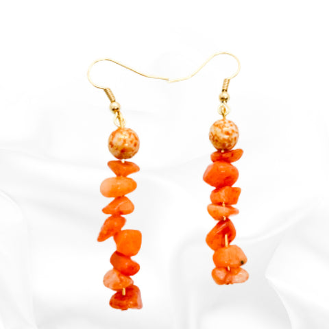 Orange Quartz Earrings - Abeiller