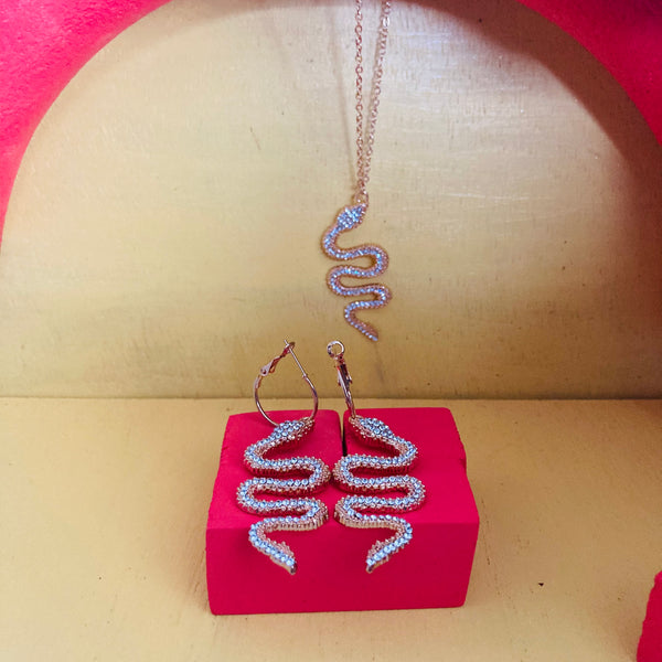 Snake Earrings and Necklace